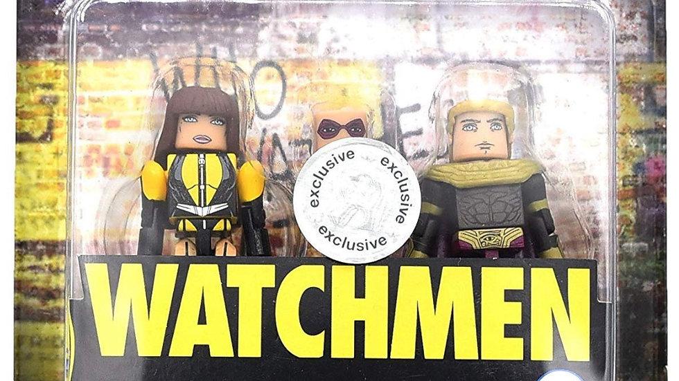 DC Watchmen Minimates Toys R Us Wave 1 Silk Spectre & Ozymandias 2-Pack