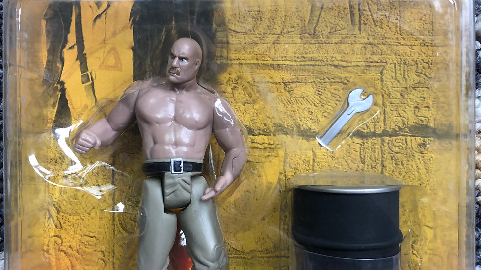 Indiana Jones German Mechanic with crescent wrench and oil barrell