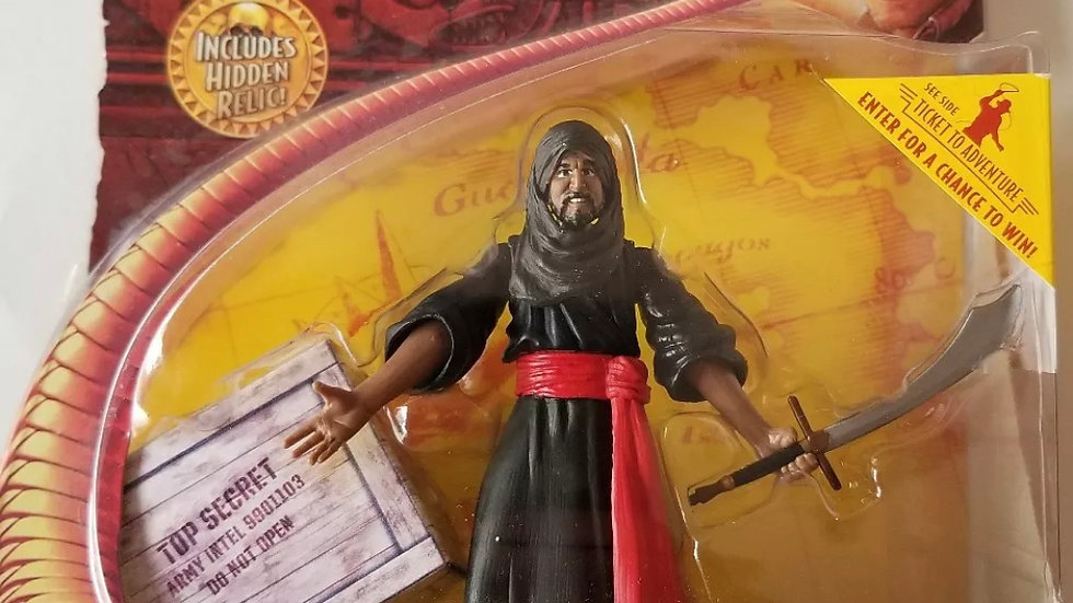 Indiana Jones Raider of the Lost Ark Cairo Swordsman Action Figure with Hidden