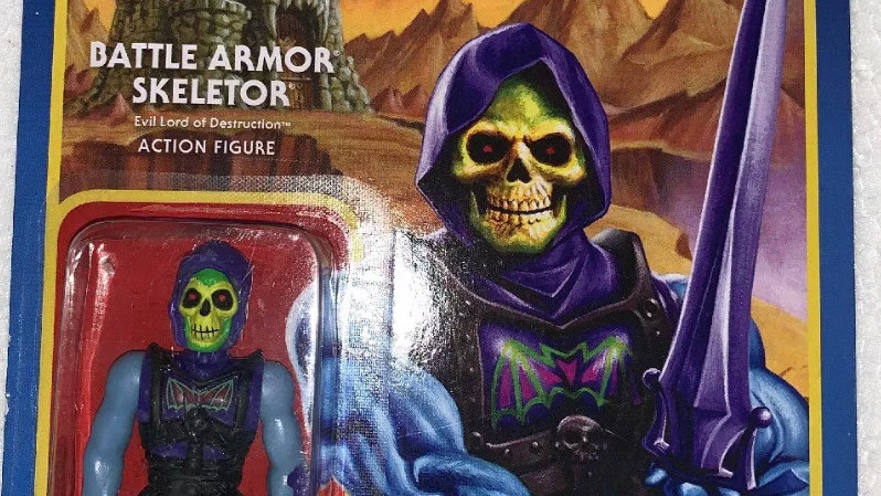 "Masters of the Universe Super7 Armor Skeletor Action Figure 3 3/4"" Vintage Style"