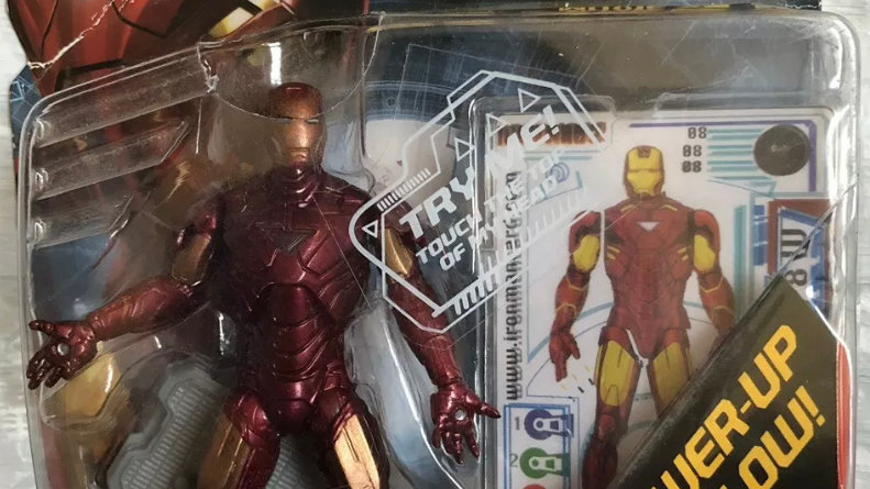 "Hasbro Iron Man Movie Mark 6 VI With Power Up Glow 3 3/4"" Action figure"