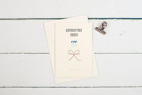 Birthday Pint! greetings card