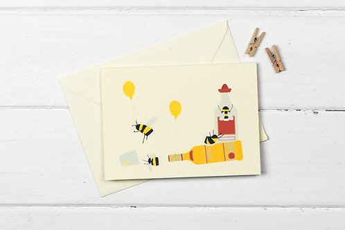 Bee tequila party- greetings card