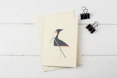 Flamingo grim reaper- Birthday greetings card