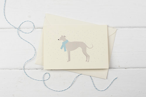 Winter Whippet- Christmas greetings card