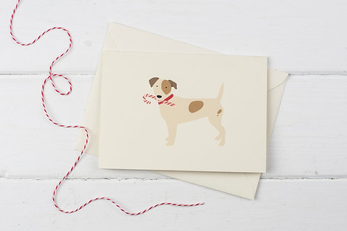 Christmas Russell with candy cane- Christmas greetings card