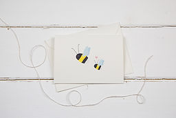 The Illustrated Wisp- Bee with little bee card