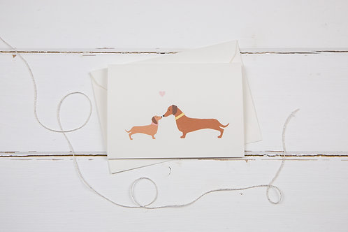 Dachshund Mother's Day greetings card