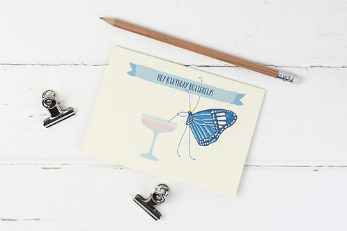 Birthday Butterfly card