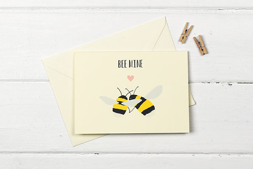 Bee mine- greetings card