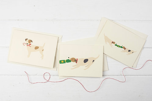 Set of 3 Christmas Russell cards- Christmas greetings cards