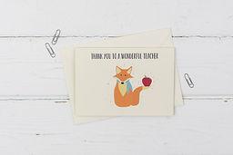 Fox- Thank you teacher card