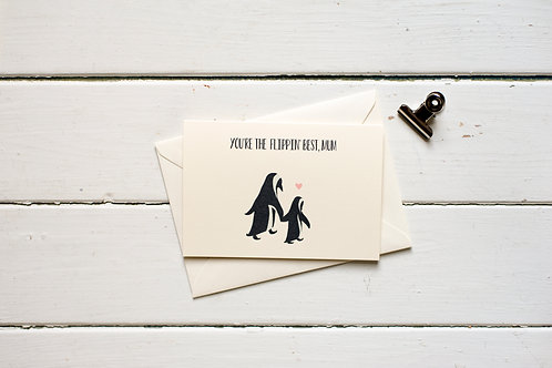 You're the flippin' best mum- greetings card