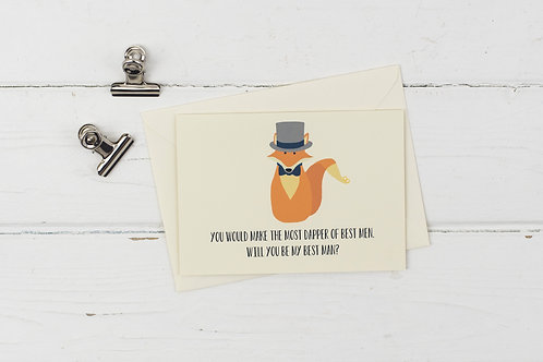 Fox- will you be my best man? card