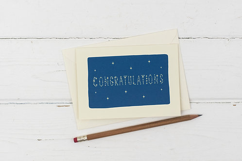 Congratulations- written in the stars card