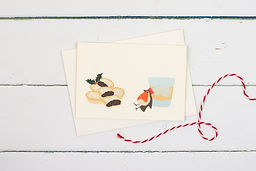 Christmas robin with Bailey's greetings card