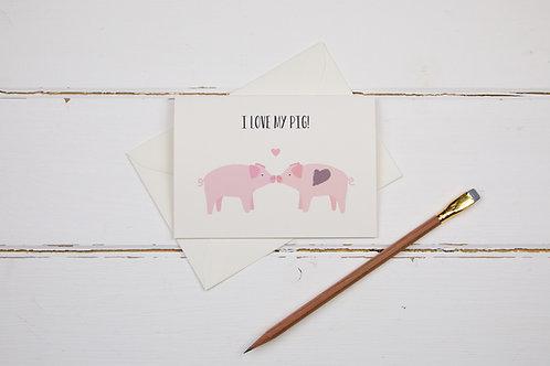 I love my pig card