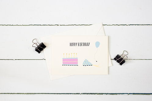 An ant crashed birthday party greetings card