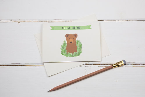 Little bear new baby card