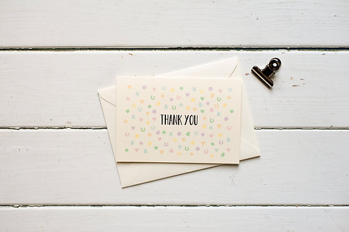 Wedding Thank you card- Confetti greetings card