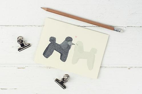 Poodle love- greetings card