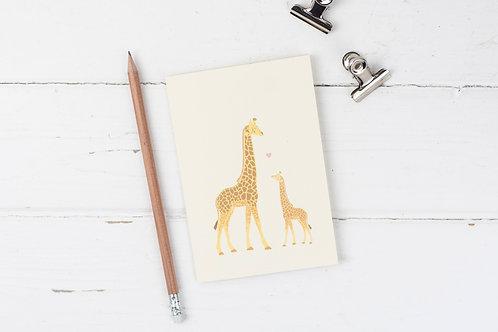 Giraffe Mother's Day greetings card