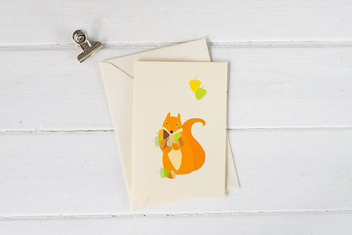 Squirrel celebration greetings card