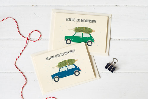Set of 4 Classic Mini Christmas greetings cards