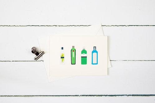 Gin- greetings card