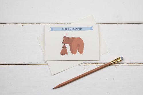 Bear best daddy ever card