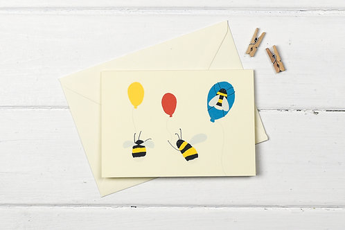 Bee party- greetings card