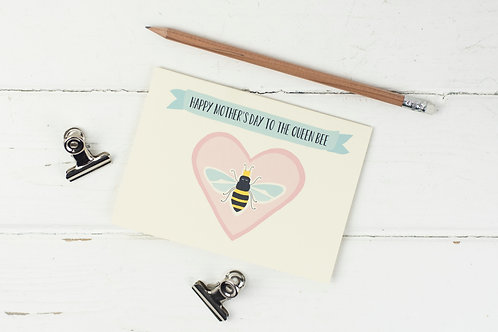 Mother's Day Queen Bee card