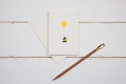 The Illustrated Wisp- Little bee card