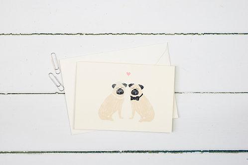 Pug- wedding greetings card