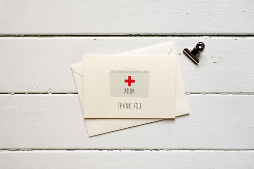 Thank you Mum- First aid kit greetings card