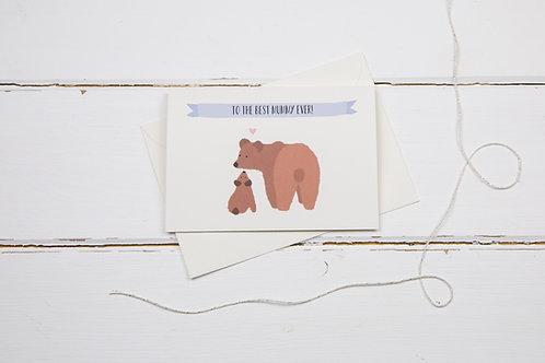 Bear best mummy ever card