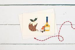 Drunken Christmas Robin card