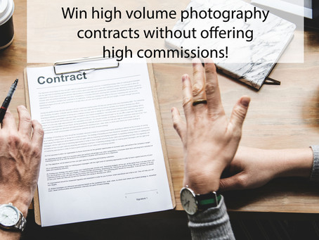 Win high volume photography contracts without offering high commissions!