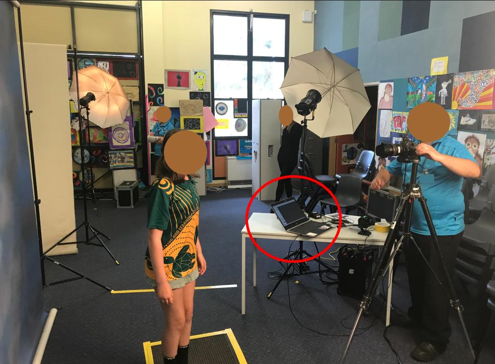 school photographer workflow