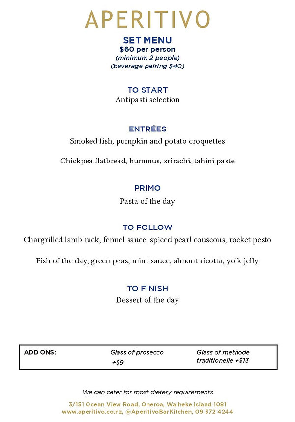 Aperitivo Bar and Kitchen Menu 18.11.20-