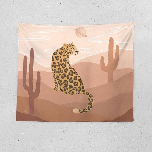 The Desert Leopard Tapestry
