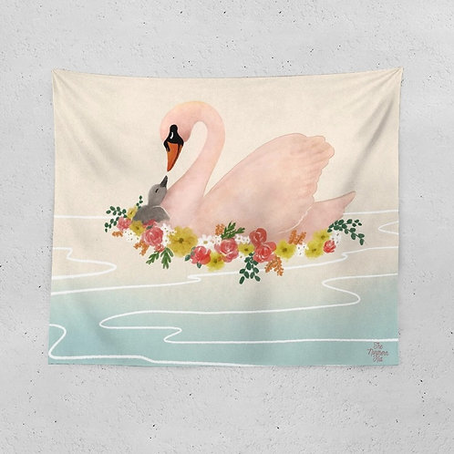 The Cygnet's Mother Tapestry