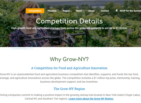 """Grow-NY"", Ag-tech competition selects Dropcopter as contestant. Top prize: $1,000,000"