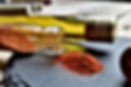 Paprika-Dip mitMango, Mandeln, Oregano, Chili, Zcker und Salz