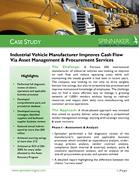 Industrial Vehicle Manu Improves Cash Fl