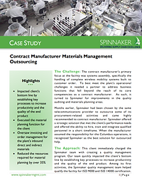 Contract Manu Materials Mgmt Outsourcing