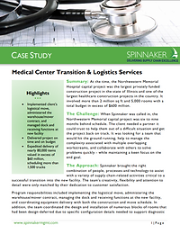 Medical Center Transition and Logistics