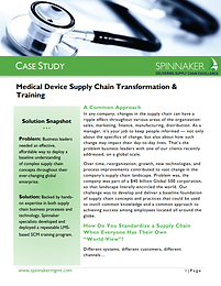 Medical Device SC Transformation and Tra