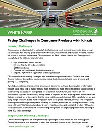 Kinaxis SC Planning in Consumer Products