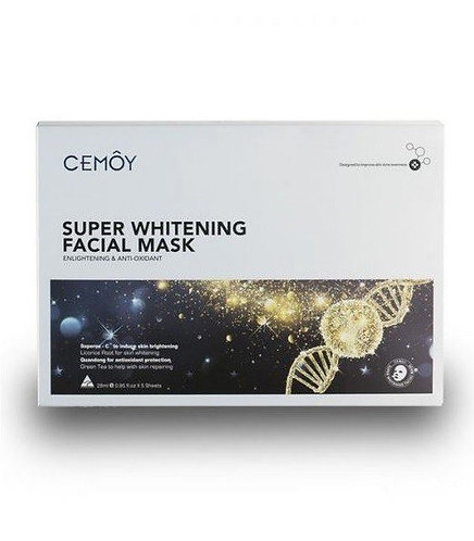 Cemoy-Super Whitening Facial Mask 28ml x 5 Sheets